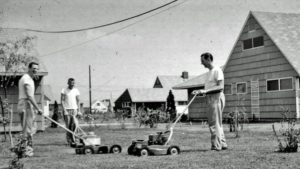 levittown ny neighbors mowing lawns