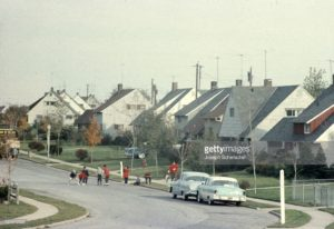 levittown ny street scene in the mid 1950's