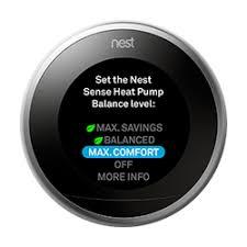 nest thermostat heat pump balance display
