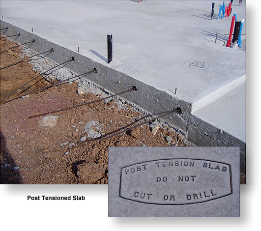 post tension slab during construction