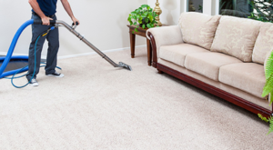 professional hot water extraction carpet cleaning show in photo