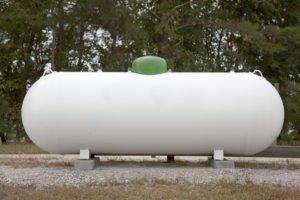 photo of propane gas tank