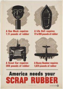 scrap rubber poster during world war 2