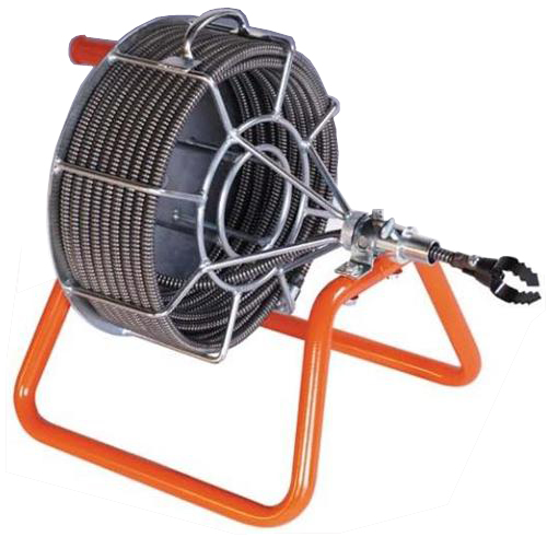 sewer drain line auger cleaning machine