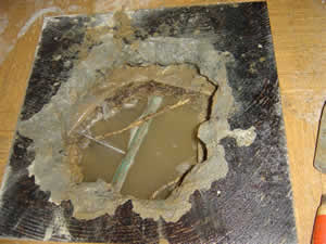 cut through slab to fix slab leak