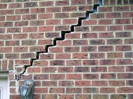 cracks in exterior brick due to slab movement