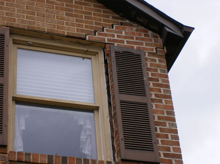 brick exterior damage due to slab movement