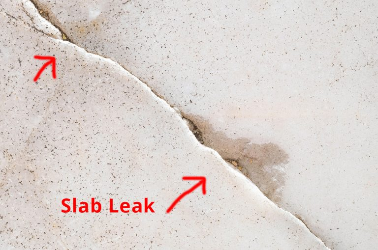 slab leak minor damage