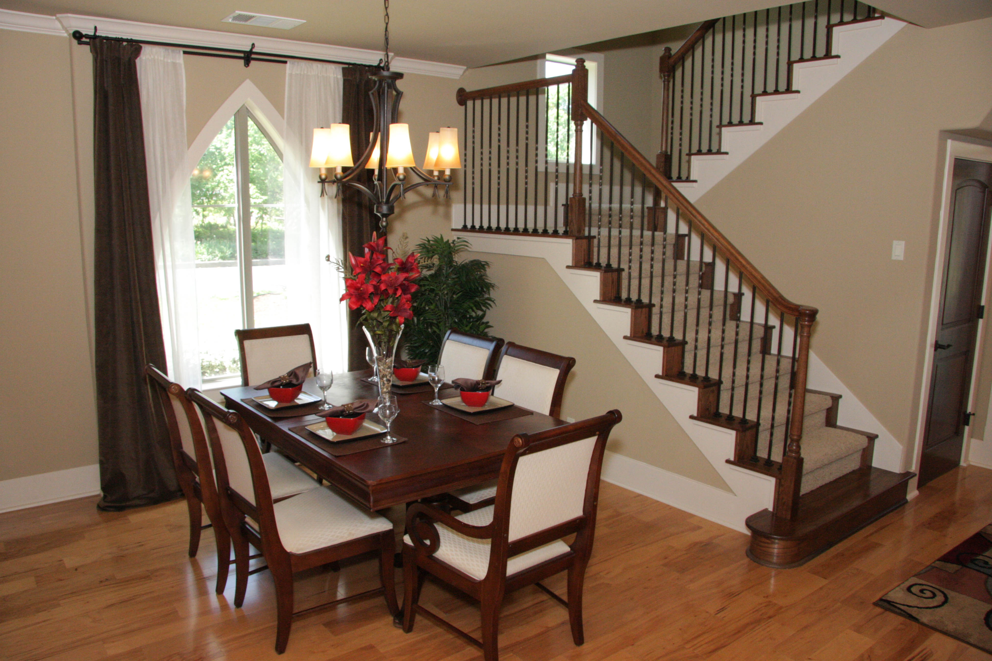 staged dining room for home sale