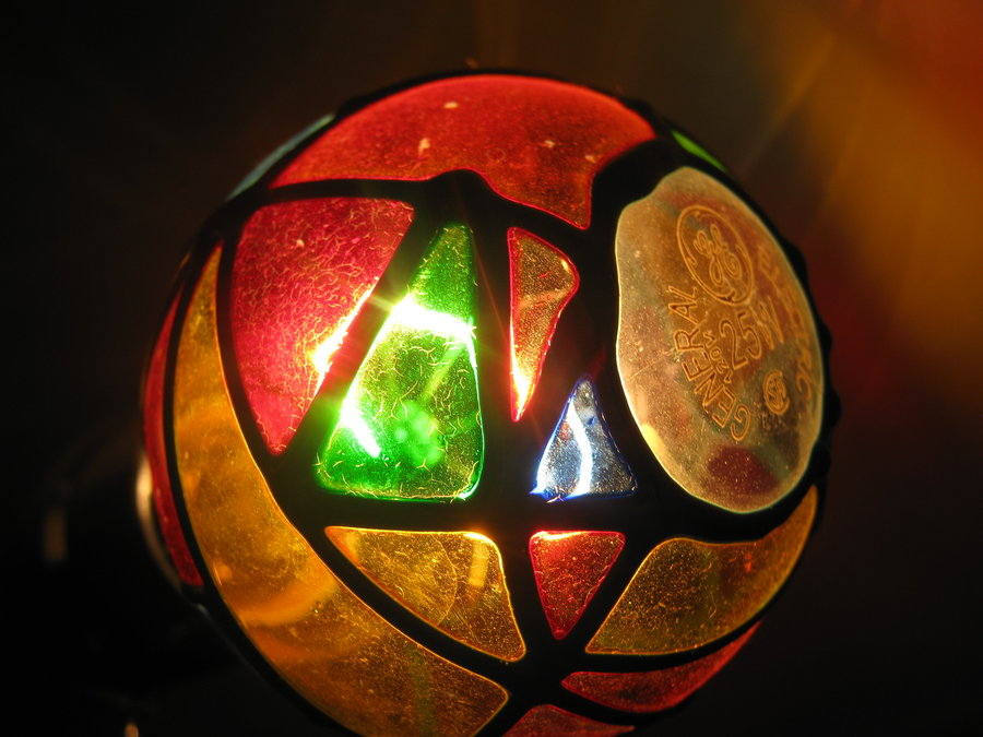 general electric stained glass light bubl