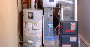 gas water heater and high efficiency gas furnace