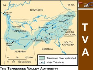 diagram map of the tennessee valley authority