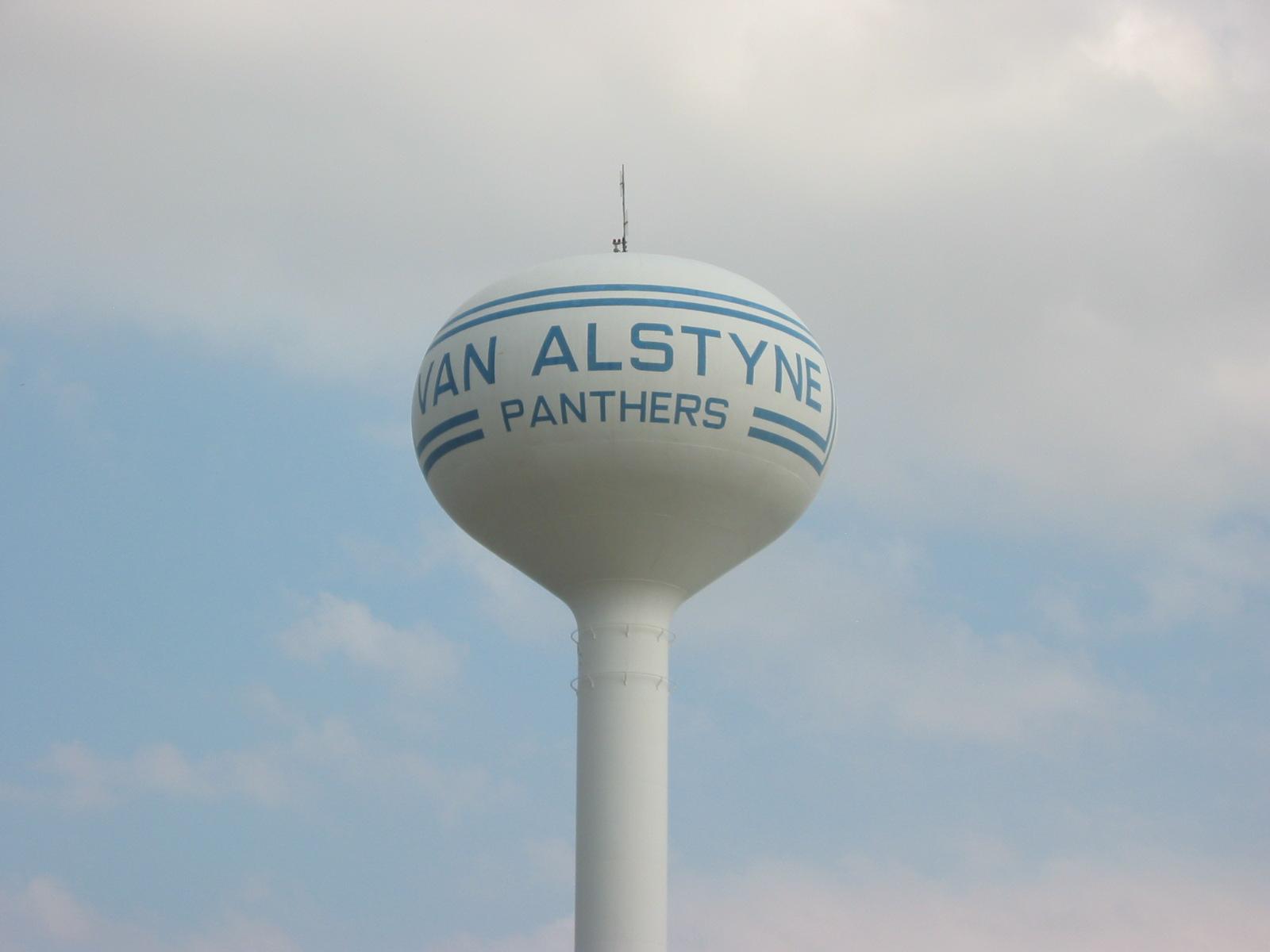 van alstyne texas water tower