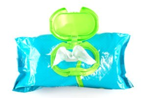 photo of baby wipes package