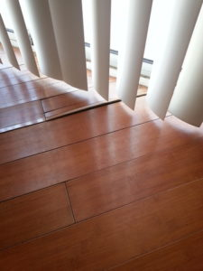 warped wood floor due to moisture