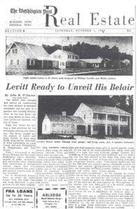 washington post newspaper article about levitt homes