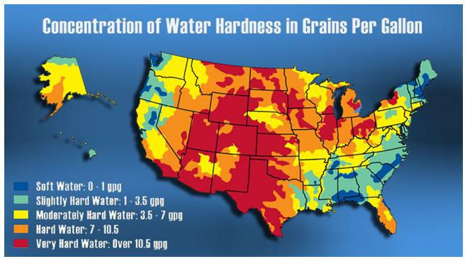 Water Hardness Map Al S Plumbing Heating Amp Air Conditioning