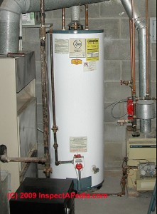 water heater vent pipe shown