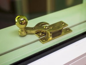 unlocked window with gap between sashes