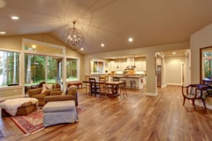 room with wood floor