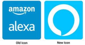 old and new app icons for amazon alexa