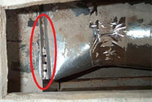 gaps in ductwork