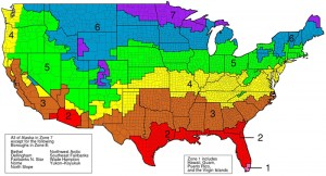 map showing zones within U.S. for insulation values