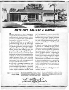 levittown ny advertisement for rancher floorlplan home
