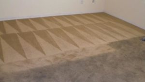very dirty carpet before and after cleaning
